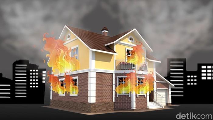 Kebakaran di Kemanggisan jakarta Barat